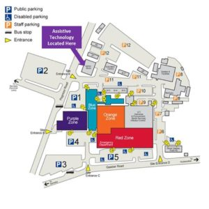 Map of AT Team location on hospital site
