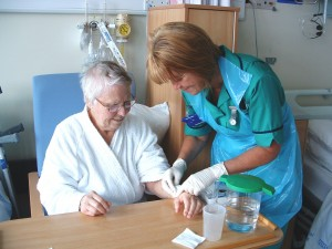Patient receives clinical treatment