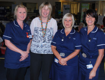 Barnsley Hospital's stoma care team...