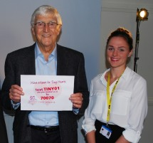 TV legend Sir Michael Parkinson...
