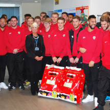 Featured article: Tykes bring Christmas early to Barnsley Hospital