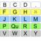 AEIOU communication chart for row column scanning