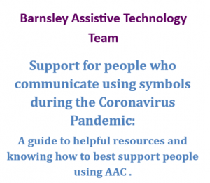 Support for people who communicate using symbols during the Coronavirus Pandemic
