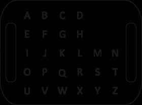 Layout of eyelink communication board