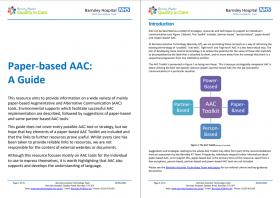 Paper Based AAC Guide Screenshot